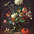 Jan Davidsz. de Heem (1606–1683/1684), Vase of Flowers, c. <b>1660</b>