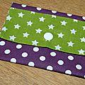 05. violet et vert - pois et étoiles