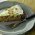 Gâteau au panais et au romarin, sans gluten et sans lactose