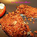Cabillaud en croute de chorizo et tomates-mozza gratinées