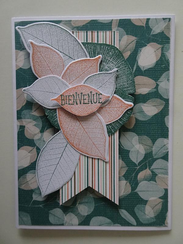 18b Carte feuilles nervurées Racine de la Vie