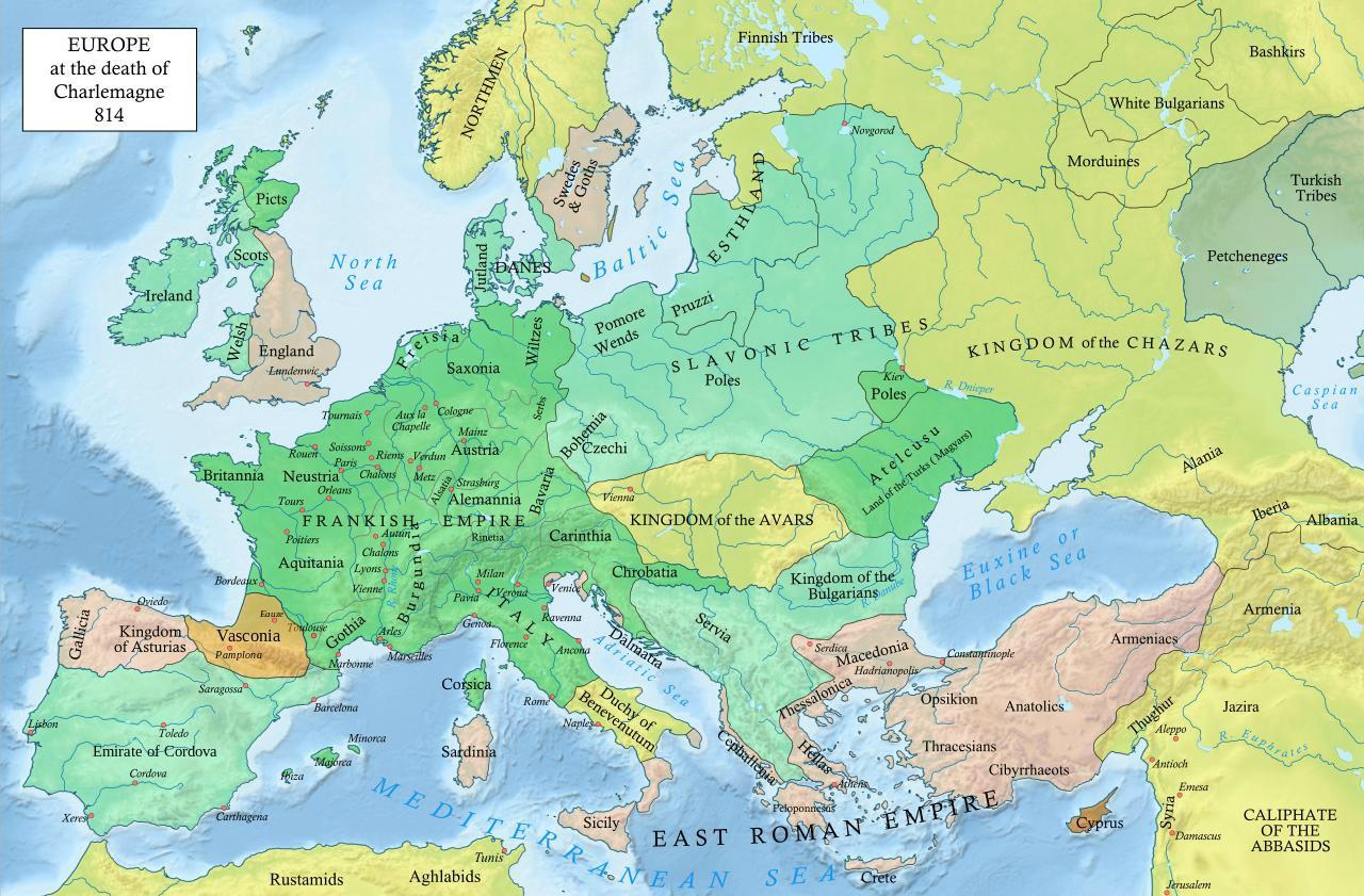 histoire europe an 814
