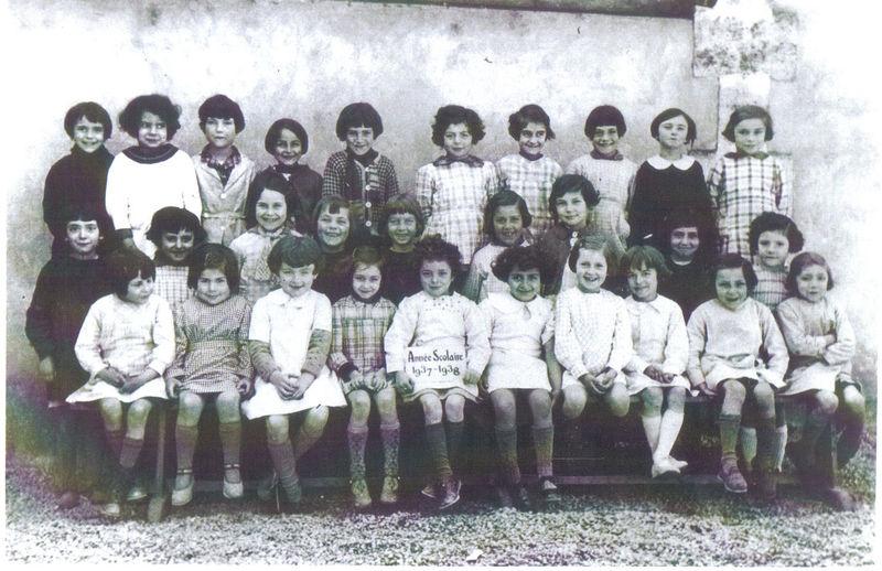 Ecole communale, Sainte-Foy, 1937-1938