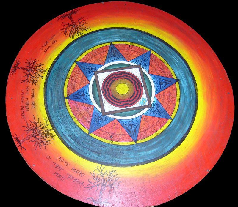 Mandala sur table