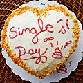 Single's day Gâteau pina colada <b>cacahuètes</b>