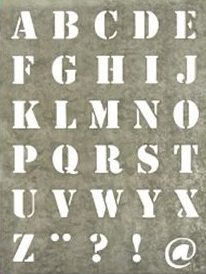 pochoir lettres
