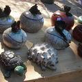 Cuissons rakus au quatrième festival de l'étang d'art.