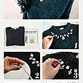 Diy : décorer un pull avec des strass