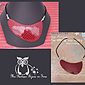 Collier Col rouge 4CCB Photo 1