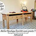 L'atelier-Boutique CrApule FActOry à Belley prend forme tout doucement mais surement ! maroquinerie cuir et <b>accessoires</b> de <b>mode</b>