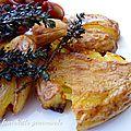 Pommes de terre écrasées à huile aromatisée