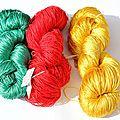 soie couleurs vives