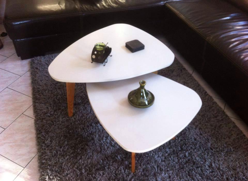 Duo de tables basses fabriquées par Christophe