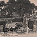 Bayonne la porte d'espagne carte postale ancienne