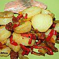 Pommes de terre au chorizo et aux poivrons