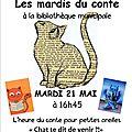Les <b>Mardis</b> du Conte à Pont-du-Fossé le 21 Mai 2013