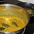 <b>daal</b>, soupe indienne, à ma facon