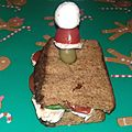 Croque monsieur de noël version mademoiselle, foodista challenge #35
