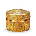 A Parcel-Gilt <b>Wooden</b> Box And Cover, Liao Dynasty, 907-1125