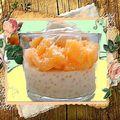 Perles du japon au lait de coco et banane où autre fruit
