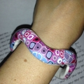 bracelet pate polymere, fimo, polymer clay bangle