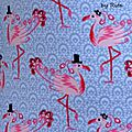 Cardateen en flamants roses - 2 versions