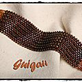 Bracelet O Herringbone Cuff orange_noir (1) S-framed