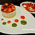 Tomate-mozzarella sucrée- masterchef