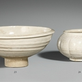 A Cizhou hemispherical bowl. <b>11th</b>-<b>12th</b> <b>century</b> and a Cizhou-type lobed jar with wide rim. Northern Song or Jin dynasty, <b>12th</b> c.