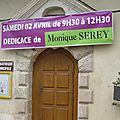 Affiche du 2 avril de la dédicace de monique serey