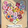 Carte anniversaire Karine 1 - Février 2013