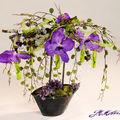 Orchidées vanda petit vase élliptique
