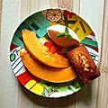 Melon, sorbet au melon, financiers extra-moelleux