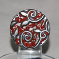 Red_and_Silver_Bague_en_pâte_fimo