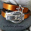 Envie d'une soirée disco ?! Ce <b>bracelet</b> orange métallic brillant est idéal. Ou pour l'un des deux réveillons qui approchent...