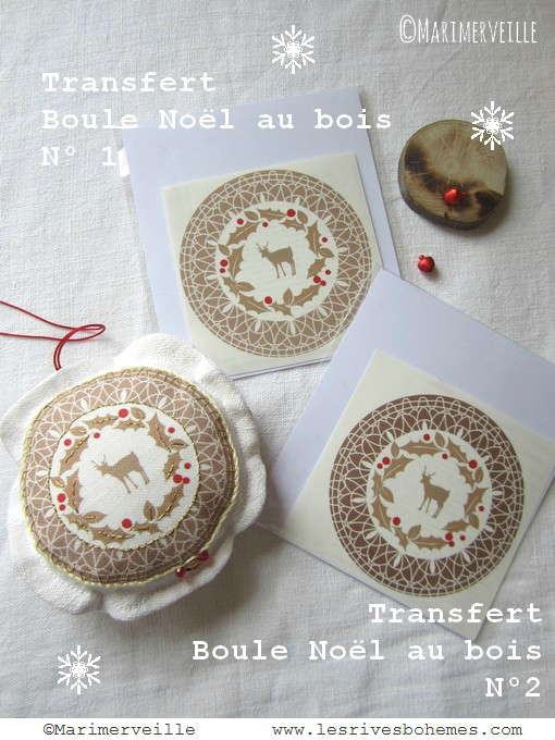 Pochettes transfert Noël au bois 1 et 2 Marimerveille