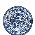 A large Ming-style blue and white '<b>melon</b>' dish, Yongzheng six character mark and of the period (1723-1735)