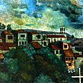 El valparaíso de liliana andariza - pintura contemporánea