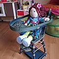 Chaise haute pour poupées... puppenhochstuhl...