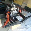 Montage de l'ensemble moteur-boite de vitesse dans le chassis