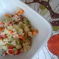 Salade de quinoa et julienne de légumes pour bobos pas trop cochons