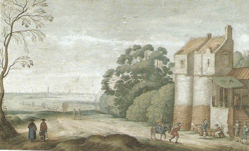 Friedrich BRENTEL - Paysage Fluvial avec Fuite en Egypte - STRASBOURG - 1638
