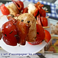 Brochettes apéritives <b>tomate</b> <b>cerise</b>-mozzarella-chorizo