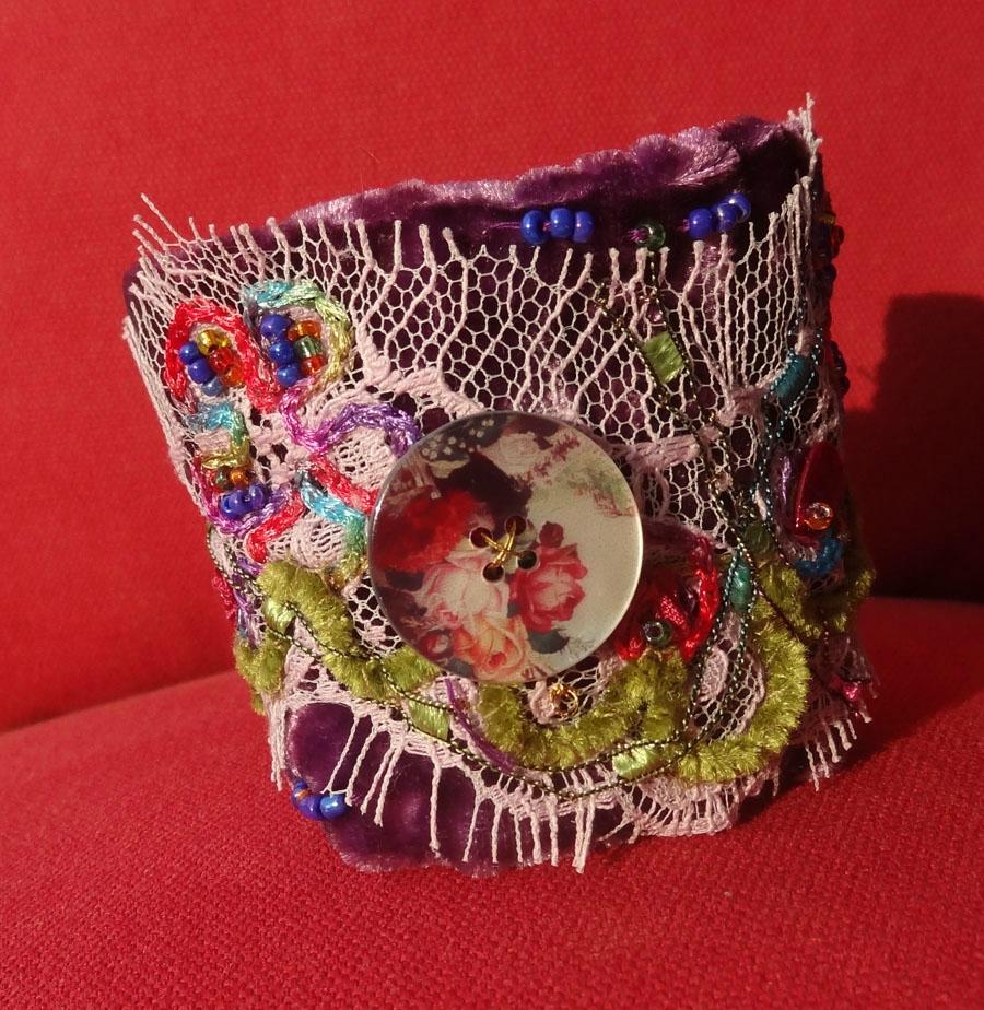 bracelet manchette mauve (4)