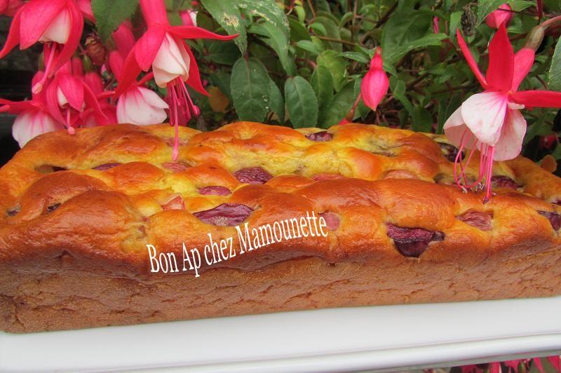 gâteau aux cerises du jardin et au mascarpone 009-