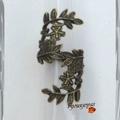 <b>Bague</b> Feuille Toi et Moi Style <b>Rétro</b>-Baroque Métal Couleur Bronze Taille 50_51