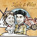 Caricature taureador - faire-part mariage espagne