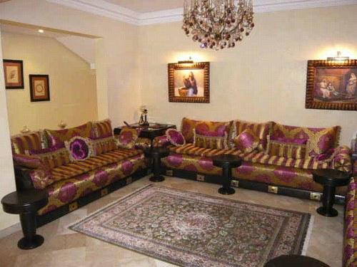 Salon marocain glorieux - Salon marocain moderne
