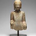 A very rare limestone bust of the Buddha, <b>Northern</b> <b>Qi</b> <b>Dynasty</b> (550-577)
