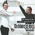 Concert en blanc et noir Duo de <b>piano</b> à Argelès